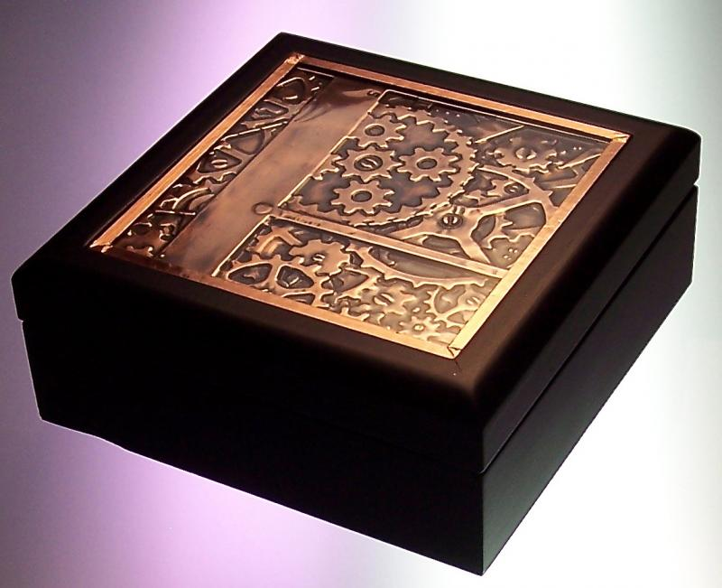 Embossed Copper Steampunk Box