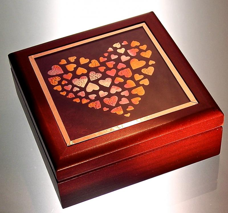 Copper Heart of Hearts Box